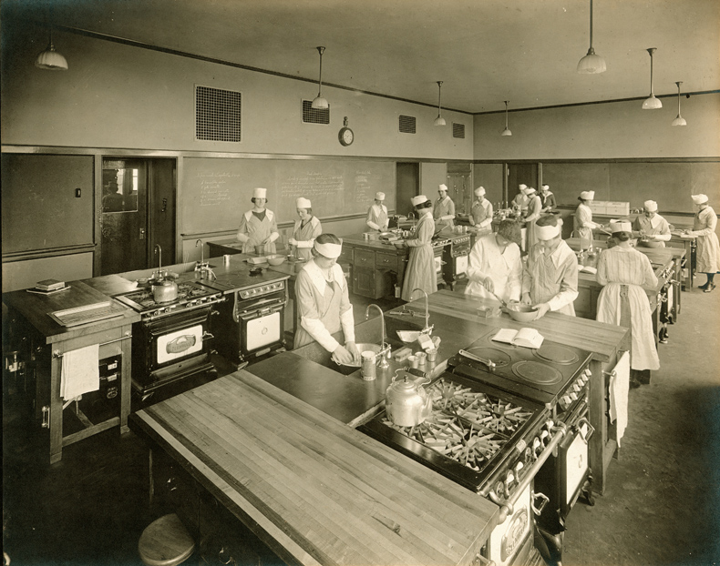 Cooking Class, Portland High School, Ca. 1920 / Maine Historical Society