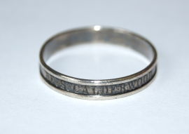 Eben Calderwood engraved his name on this ring to ensure he could be identified. (Collections of Maine Historical Society)