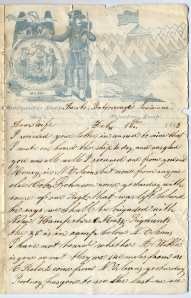Letter from Eben Calderwood to wife, from Baton Rouge, 1863. (Collections of Maine Historical Society)