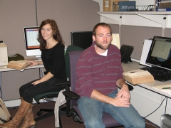 Ellie Brown and Andrew Robinson, who worked on the project during the fall 2012 semester.