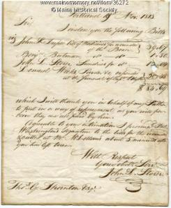 Bill for treating injured British sailors, Portland, 1813. MMN #36272.