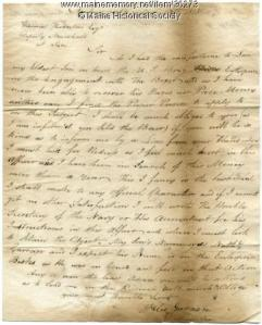 Letter concerning redress for killed son, 1815. MMN #36273.