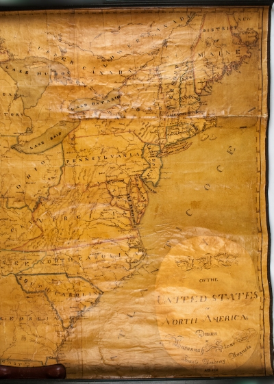 """""""A Map of the United States of North America,"""" Lusannah Stone, 1818"""