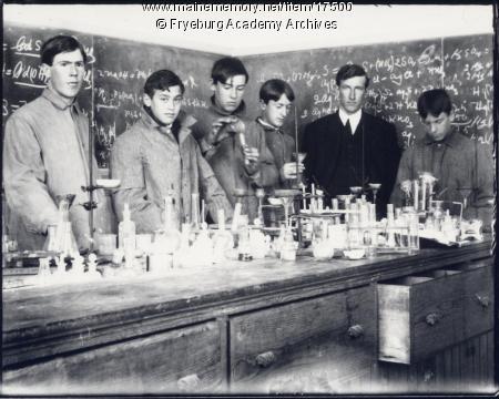 Chemistry class, Fryeburg Academy, ca. 1906 (MMN #17500)