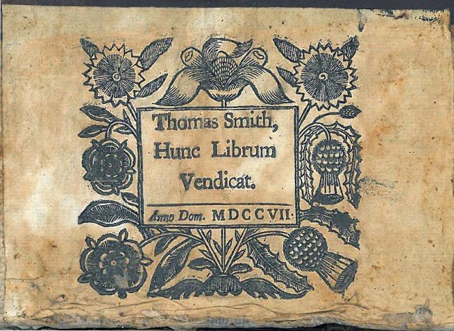 Bookplate from Annaei Senecae Tum Rhetoris Tum Philosophi..., Geneva, 1620 (S.C. 843)