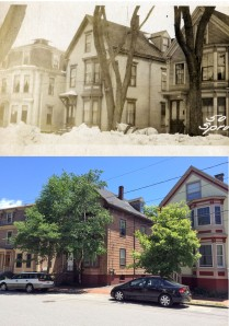 44-50 Spruce Street, West End, Portland. 1924, and on June 13, 2014.