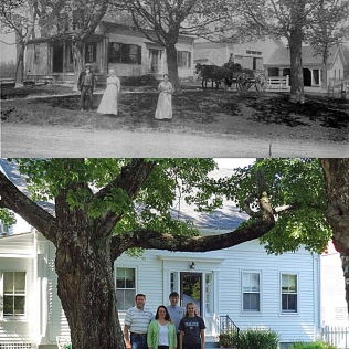 Family Farm, Duck Pond Rd. in Westbrook, ca. 1895; 2012.