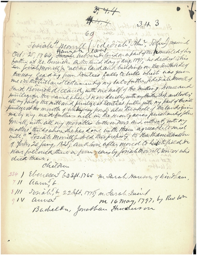 Coll. 2731 manuscript sample page (front)
