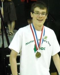 National History Day Fist Place Winner, Noah Binette. Photo credit: University of Maine