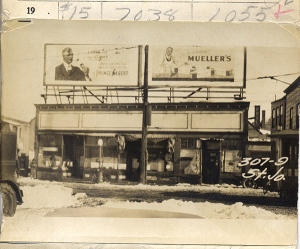 Pool Hall at 305-309 St. John Street, 1924. Item #76823