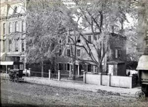 Wadsworth-Longfellow House, Portland, ca. 1880. Anne Longfellow Pierce, the poet's sister, gave the building to the Maine Historical Society in 1901.