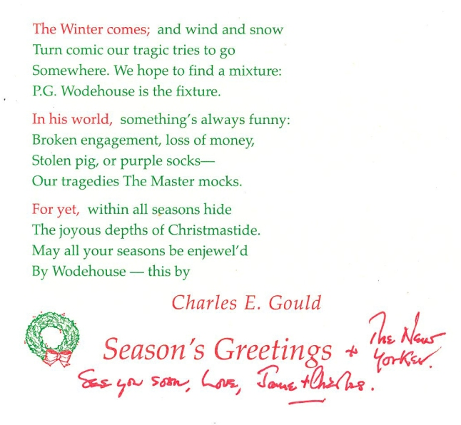 Coll. 2880 Christmas letter from Charles Gould Jr. inside