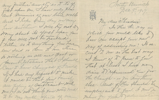 Coll. 2880 letter from Susan to Theodore Dec. 9th, 1907
