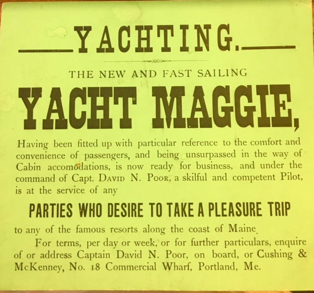 Coll. 2982 Captain Poor Yacht Advertisement